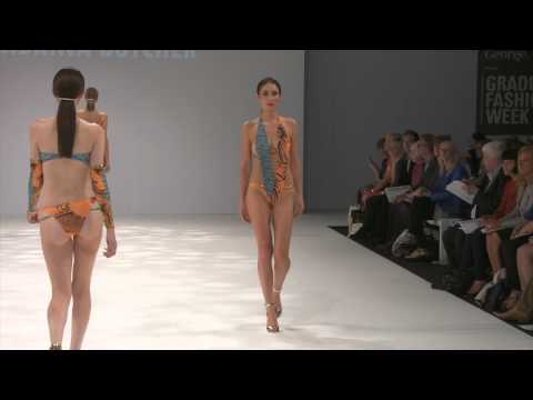 Sabrina Butcher swimwear catwalk 2014 London Graduate Fashion Week