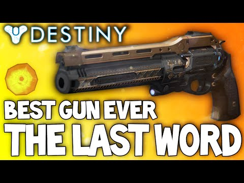 Destiny: The Last Word - Insane Exotic Weapon Review / My New Favorite Weapon
