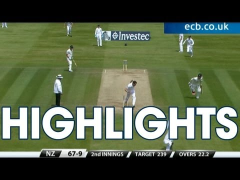 7 wicket Broad! Highlights England v New Zealand - Day 4 Afternoon Session at Lord's