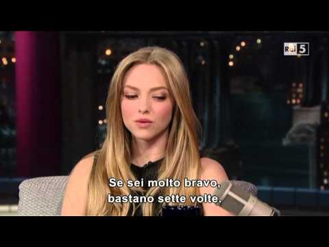 Amanda Seyfried al David Letterman 12-12-2012 (sub ita)
