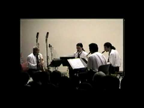 Cuarteto de saxofones del compositor Gustavo Becerra Schmidt (Parte 4)