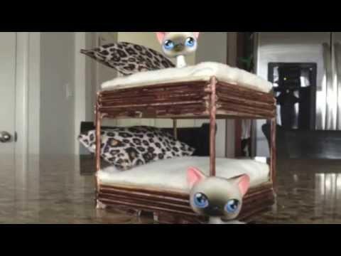 Littlest Pet Shop Making A Lps Bunk Bed Youtube