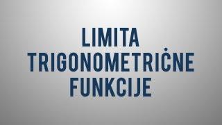 Limita trigonometrične funkcije