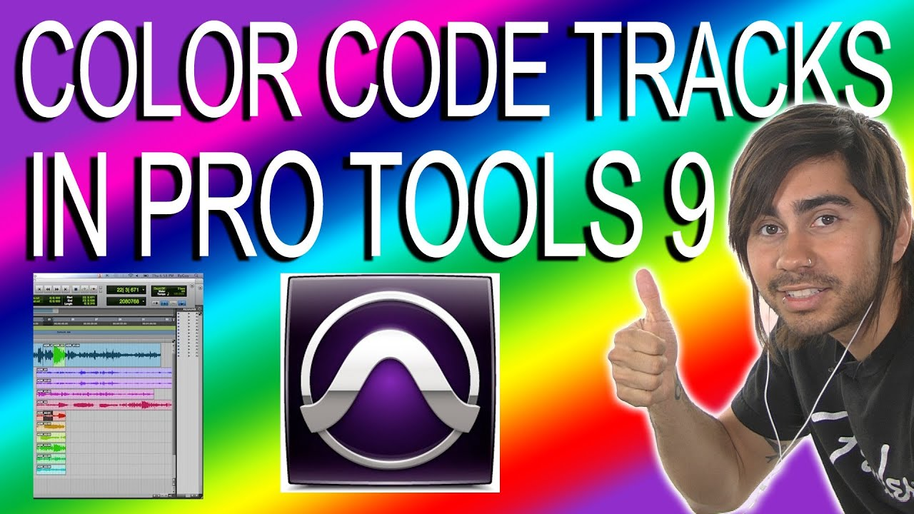 color code tracks pro tools 9 youtube