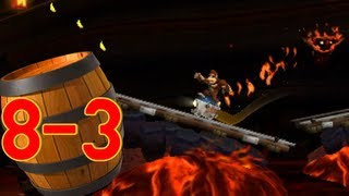 Donkey Kong Country Returns 3D: World 8-3 Roasting Rails