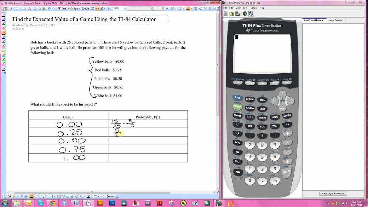 expected value calculator statistics
