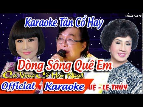 Dòng Sông Quê Em Karaoke Tân Cổ | Thanh Tuấn Lệ Thủy Karaoke ✔