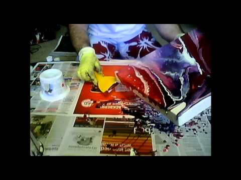 FLUID ACRYLIC PAINTING TECHNIQUES.