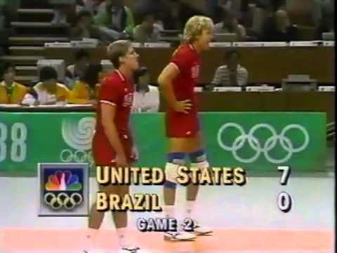 '88 Men's Olympic Volleyball: USA vs. Brazil - Cross Over Round