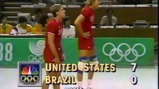 '88 Men's Olympic Volleyball: USA Vs. Brazil Cross Over