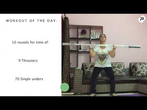 Home and Scale version of #CrossFit PA workout of the day: 10162020