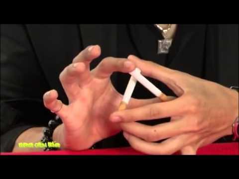 Hướng dẫn ảo thuật  Ảo thuật hấp dẫn , đơn giản với 2 điếu thuốc lá