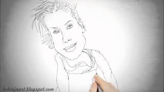 [Sandra Bullock sketch caricature] Video