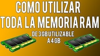 Como Utilizar Toda La Memoria Ram En Windows 7 Y Windows 8