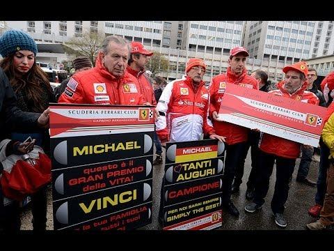 Michael Schumacher fans hold vigil for driver's 45th birthday