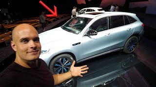 First look inside the Electric Mercedes! - Should Tesla Be Worried?