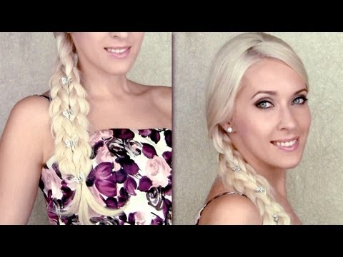 Cute summer hairstyle for everyday | 4-strand braid illusion (long hair tutorial)