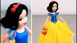 How to make a Disney SNOW WHITE Doll Cake | Torta Muñeca Princesa Blancanieves