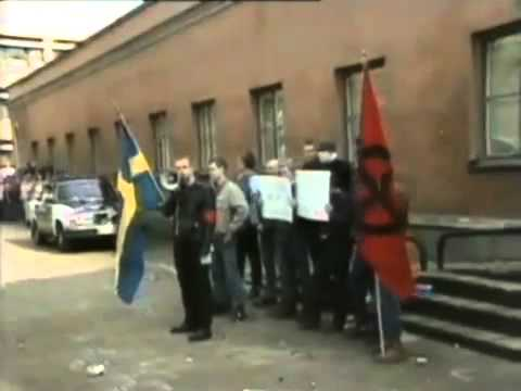 Sweden:Fight between the Communist party and nazis -1985