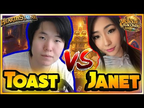 DISGUISED TOAST VS JANET ( JOAST ) - Hearthstone Funny and lucky Rng Moments