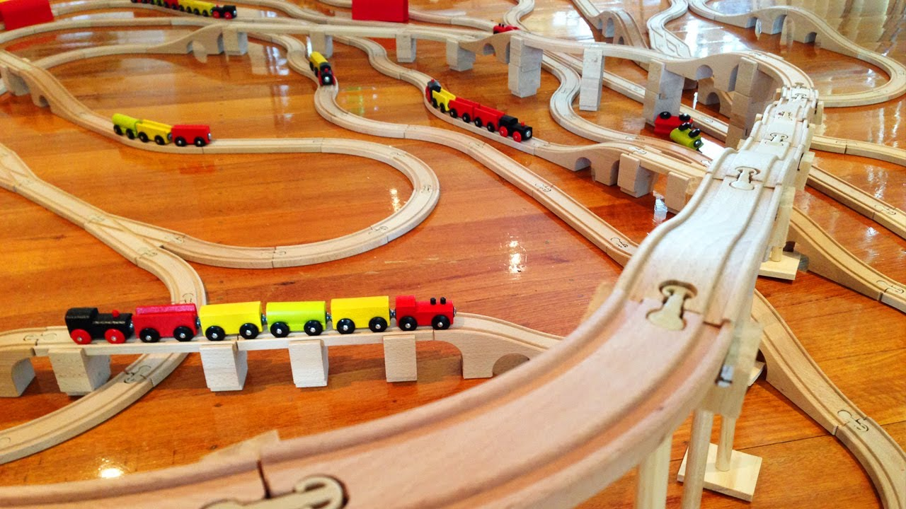 Toy train track types