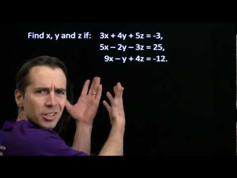 Art of Problem Solving: Systems of Linear Equations with Three Variables