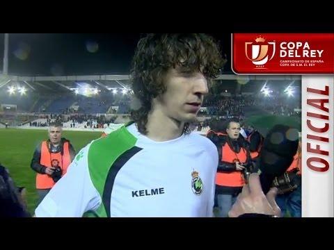 Entrevista a Javi Barrio en el Racing de Santander - Real Sociedad - HD Copa del Rey