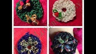 How To Make A Rainbow Loom Wreath, Snowflake, Mandala