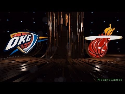 NBA Oklahoma City Thunder vs Miami Heat - NBA Live 14 PS4 - 1st Qrt - HD
