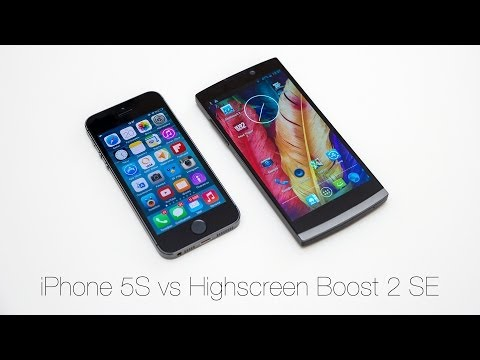 iPhone 5S vs Highscreen Boost 2 SE