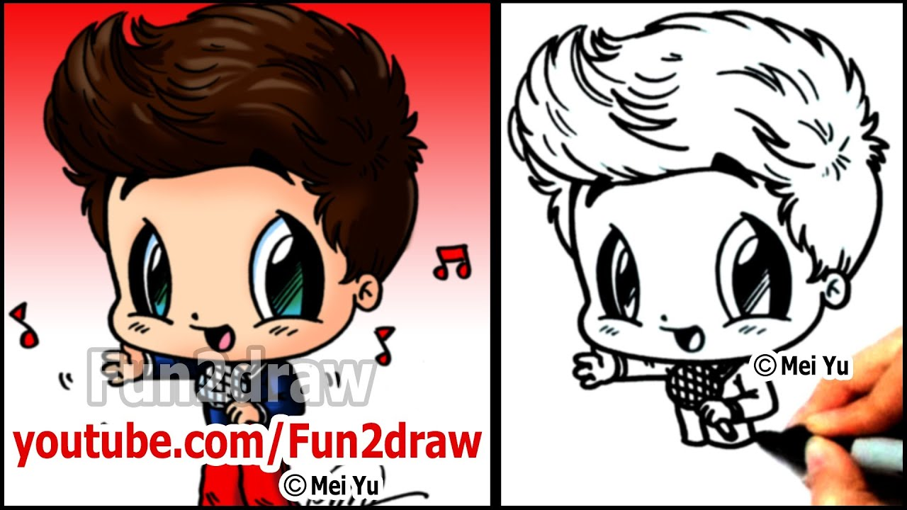 One direction cartoon louis tomlinson how to draw 1d for Fun to draw people