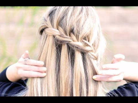 Waterfall Braid ~ Partial French Braid with Cascading Hair ~ Tutorial