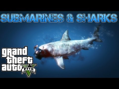 Grand Theft Auto V Challenges | SUBMARINES & SHARKS UNERWATER ADVENTURES | PS3 HD Gameplay