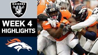 Raiders vs. Broncos   NFL Week 4 Game Highlights