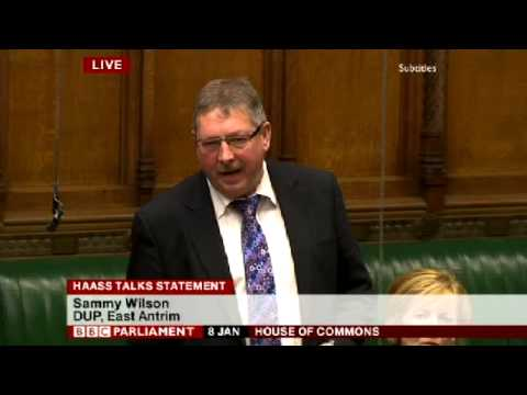 Sammy Wilson - No Deal better than a deal which exacerbates division