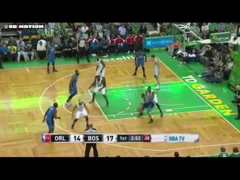 Aaron Afflalo post-up/curl option play
