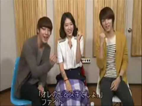 jung yong hwa & park shinhye happy together.wmv
