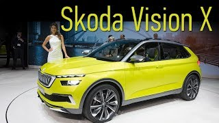 Концепт Skoda Vision-X: если выкинуть электромотор и лонгборды, то почти серийный кроссовер!. Тесты АвтоРЕВЮ.