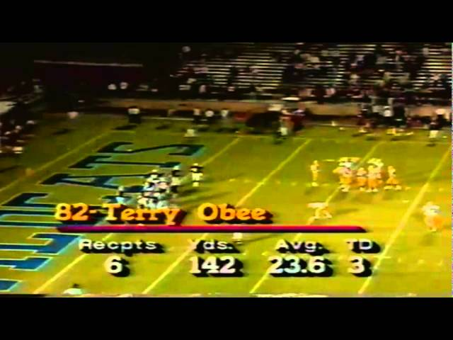 Oregon WR Terry Obee 16 yard touchdown catch vs. Arizona 11-12-1988