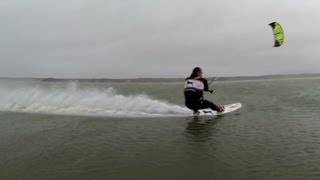 Kite Boarders Take on Hurricane Sandy
