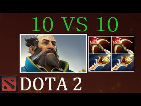 Dota 2 CRAZY 10 vs 10 Kunkka 46 Kills & Rapiers Everywhere (Gameplay)