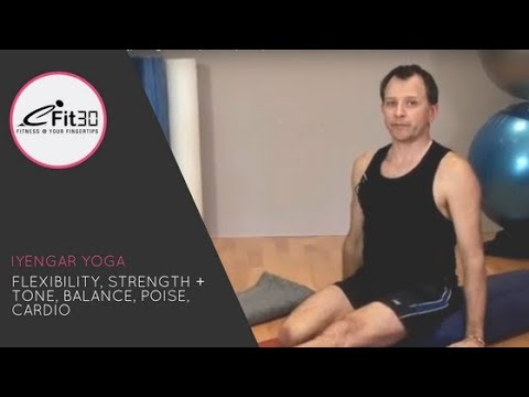 Iyengar Yoga with David McLaughlan full 30 minute workout, eFit30