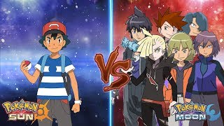 Pokemon Sun and Moon: Ash Vs Gary, Paul, Tobias, Trip, Alain and Gladion