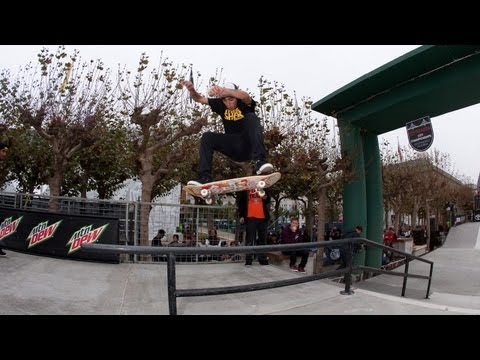 Skate Street Finals Highlights Dew Tour 2012 - Nyjah Huston, Torey Pudwill, P-Rod &amp; More