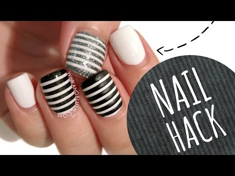 NAIL HACK: Cheat Your Way to PERFECT Stripe Nails!!