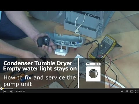 How to service a Condenser Tumble Dryer pump unit, Indesit, Proline, Creda, Ariston, Hotpoint