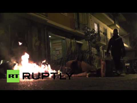 Greece: Battles break in Athens following protest and celebration