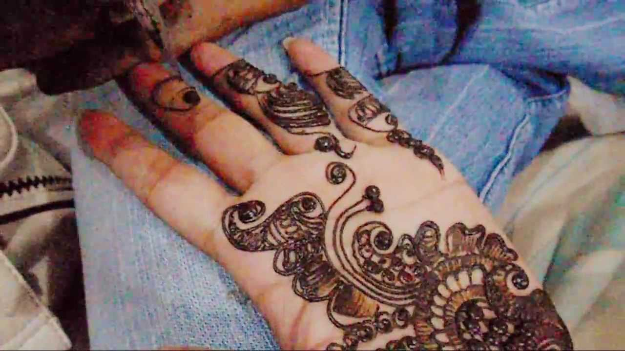 Mehndi Designs Tutorial Youtube : How to make indian pakistani mehndi design full hand
