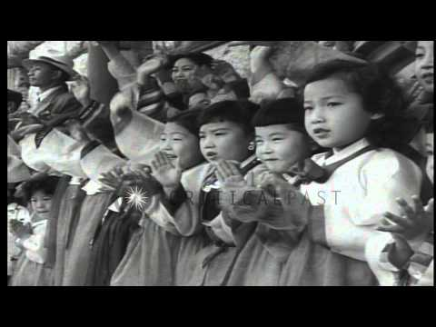 Asian Peoples Anti-Communist's meeting in Seoul, Korea. HD Stock Footage