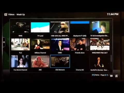 How to Watch Live TV Channels and Live Sports using Mash Up on XBMC -- HBO STARZ SHOWTIME & MORE